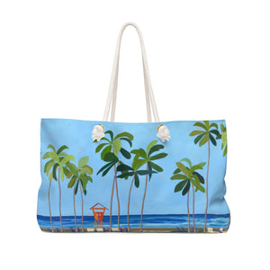 Canvas Tote Bag: Waikiki Beach Lifeguard Tower, Kaimana Beach