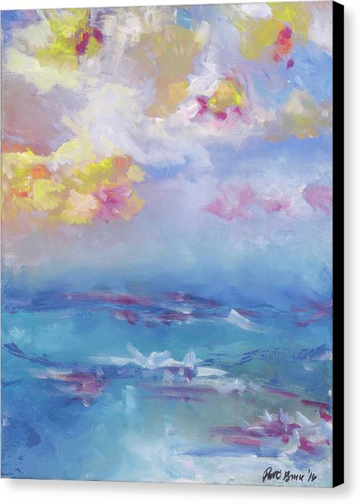 Cloudy Abstract - Hawaii Tropical Sky Sunset - Canvas Print