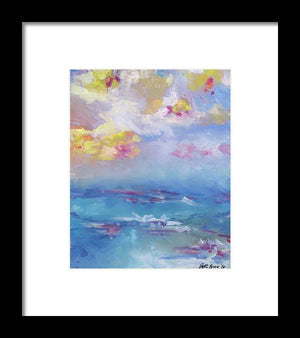 Cloudy Abstract - Framed Print