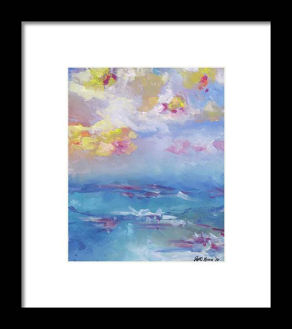 Cloudy Abstract - Hawaii Tropical Sky Sunset - Framed Print