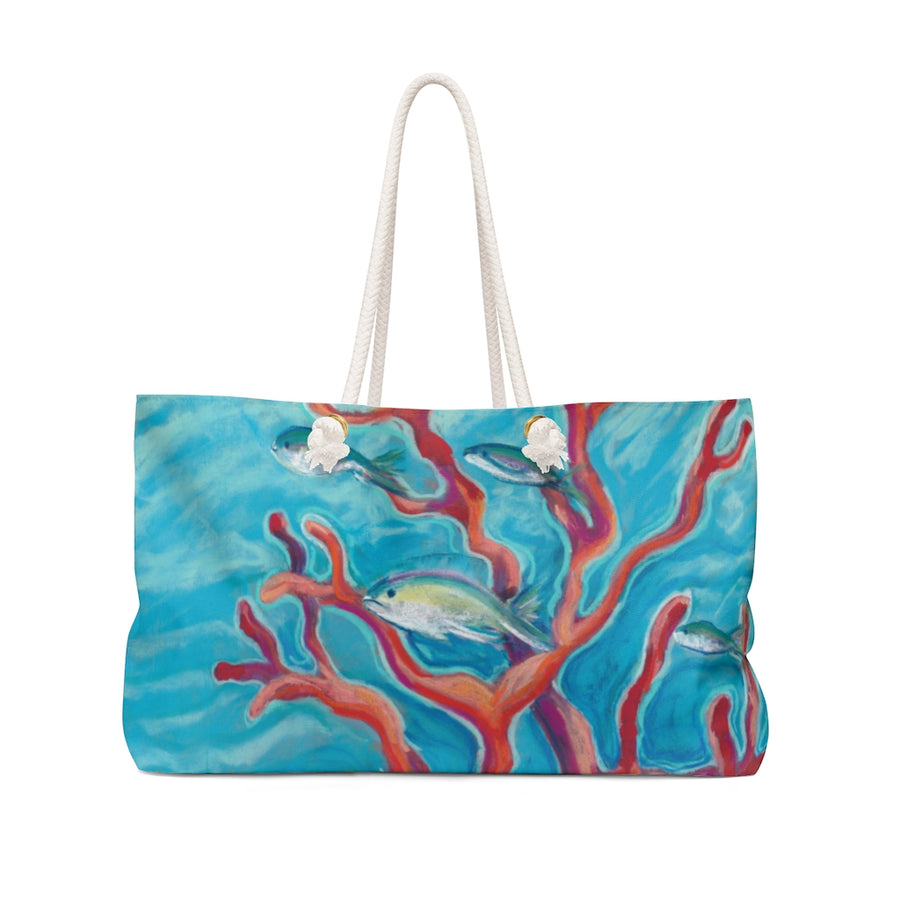 Canvas Tote Bag: Tropical Fish & Coral - Coral Assets