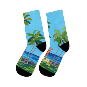 Women's Socks: Kaimana Beach