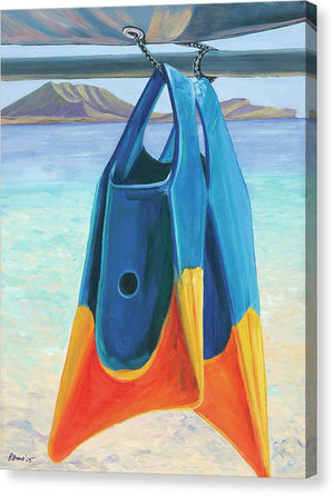 Fins Of Kailua - Canvas Print