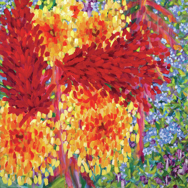 Ginger Boom - Tropical Hawaiian Flowers, Red Flower - Archival Print