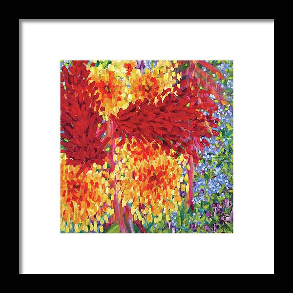 Ginger Boom - Tropical Hawaiian Flowers, Red Flower - Framed Print