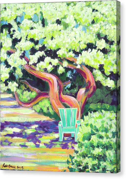 Green Chair - Canvas Print
