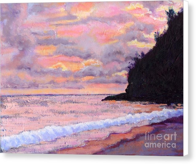 Kauai Hanakapiai Tropical Sunrise - Canvas Print