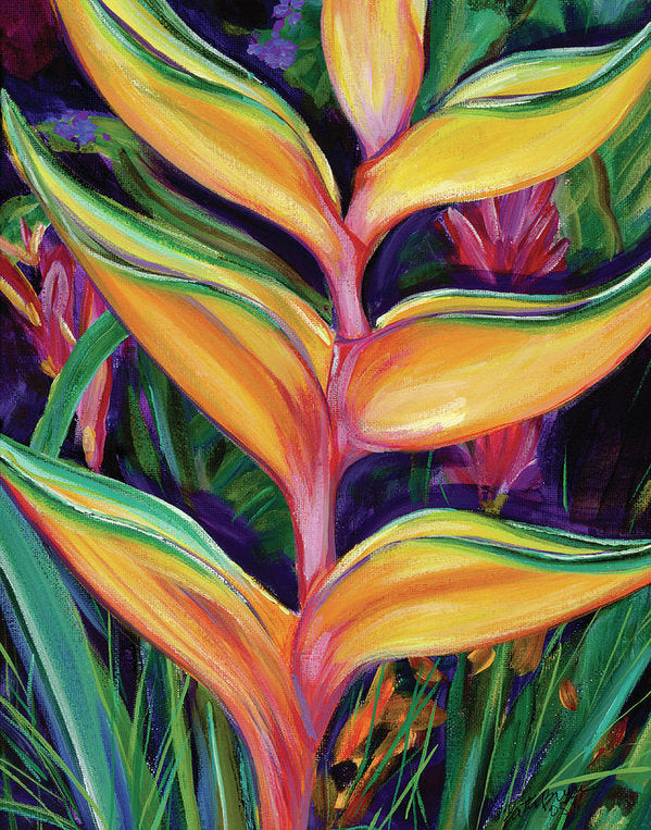 Heliconia Tropical Hawaii Flower - Archival Print