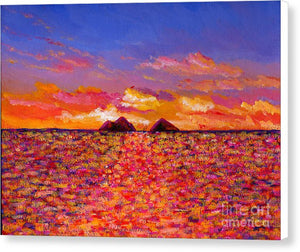 Tangerine Sunrise: Canvas Print