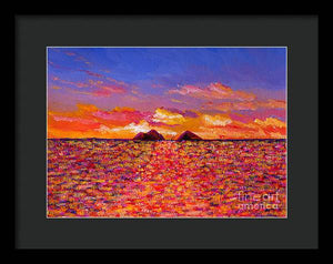 Tangerine Sunrise: Framed Print