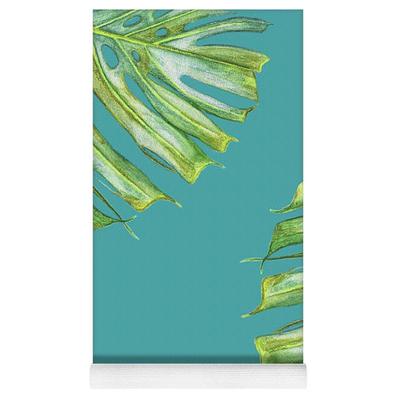 Yoga Mat: Monstera Edge Turquoise