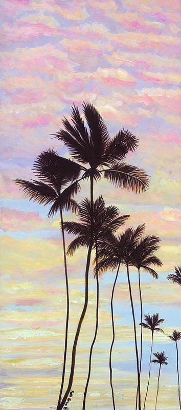 Cotton Candy Clouds - Tropical Sunrise and Palms - Archival Print