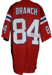 Deion Branch Autograph Custom Patriots Throwback Jersey
