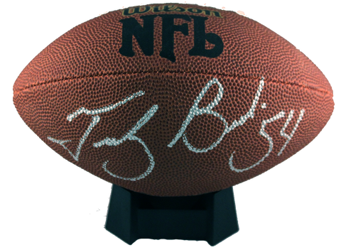 Tedy Bruschi Autograph Wilson NFL Mini-Football