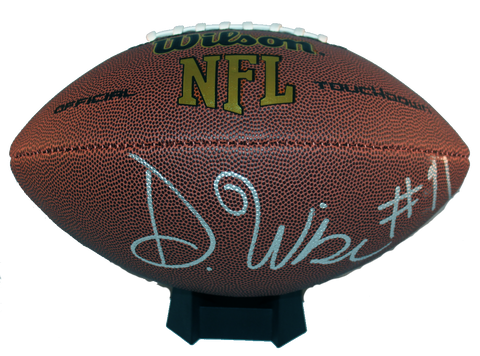 Deatrich Wise Autograph Wilson Official-Size Football