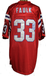 Kevin Faulk Autograph Patriots Throwback Jersey