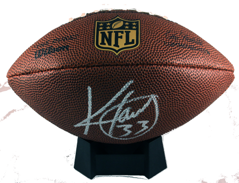 "Kevin Faulk Autograph NFL Wilson ""The Duke"" Mini-Football"