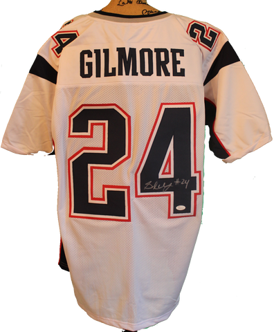 Stephon Gilmore Autographed Custom Patriots Away Jersey