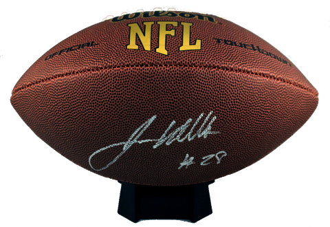 James White Autograph Wilson Official-Size Football