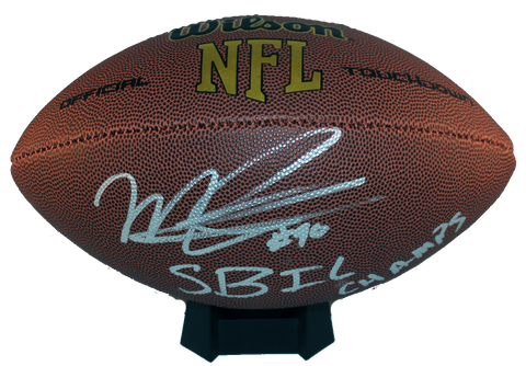 Malcolm Brown Autograph Wilson Official-Size Football