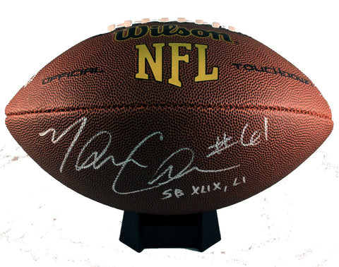 Marcus Cannon Autograph Wilson Official-Size Football