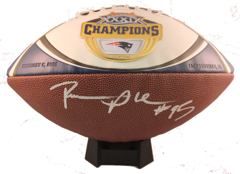 Roman Phifer Autograph SBXXXIX Medallion Official Size Football