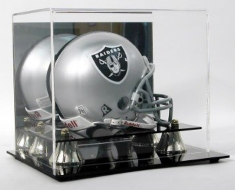 DELUXE MINI-HELMET DISPLAY CASE (W/MIRROR)
