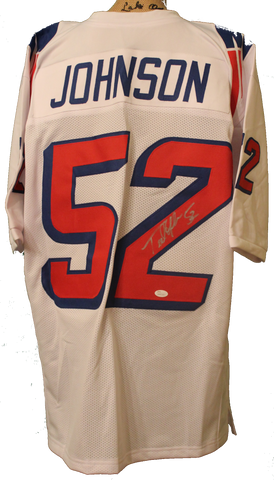 Ted Johnson Autographed Custom Patriots Away Jersey