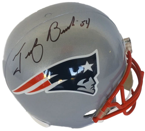 Tedy Bruschi Autograph Riddell Full-Size Deluxe Replica New England Patriots Helmet