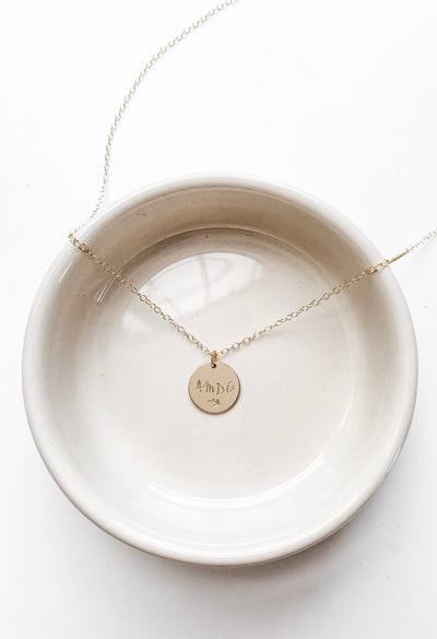 AMDG Disc Necklace