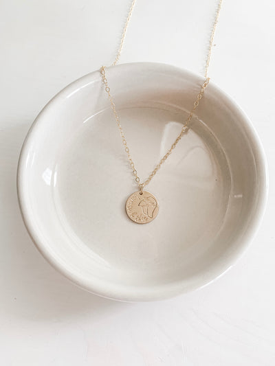 Born To Do This Disc Necklace