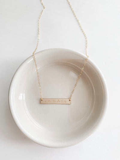 Born To Do This Bar Necklace