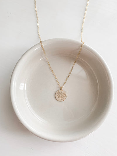 June Floral Disc Necklace