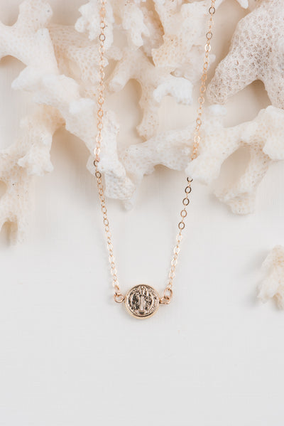 Saint Benedict Charm Necklace