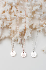 Sacred Heart Disc Necklaces