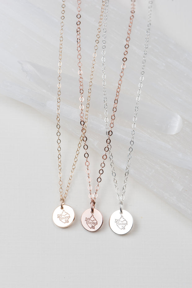 Immaculate Heart Disc Necklaces