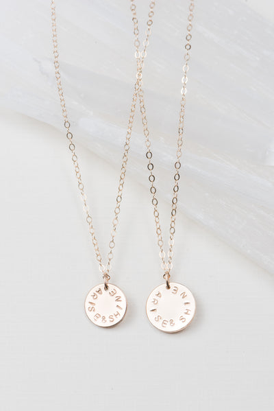 Arise and Shine Disc Necklace