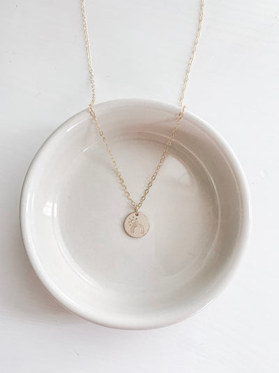 Sunshining Day Disc Necklace