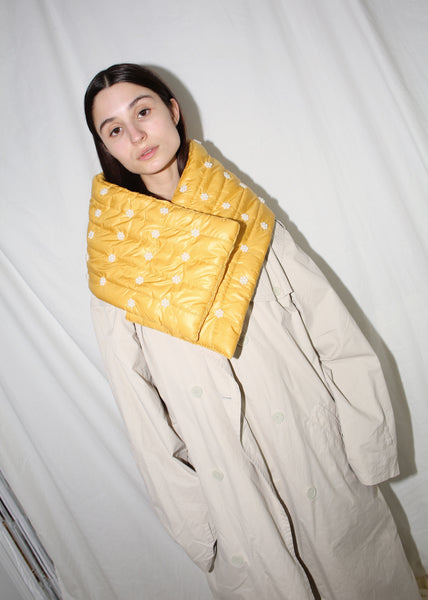 PEOPLES FLOWERS YELLOW QINA SNOOD