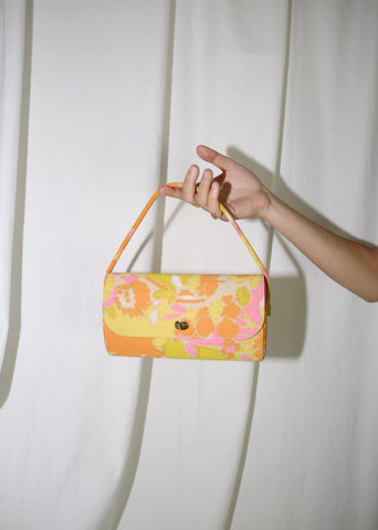 VINTAGE ORANGE & YELLOW PUCCI STYLE PRINT HANDBAG