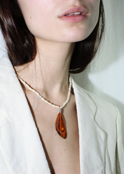 KUNST PAPILLON NECKLACE IN BURNT ORANGE