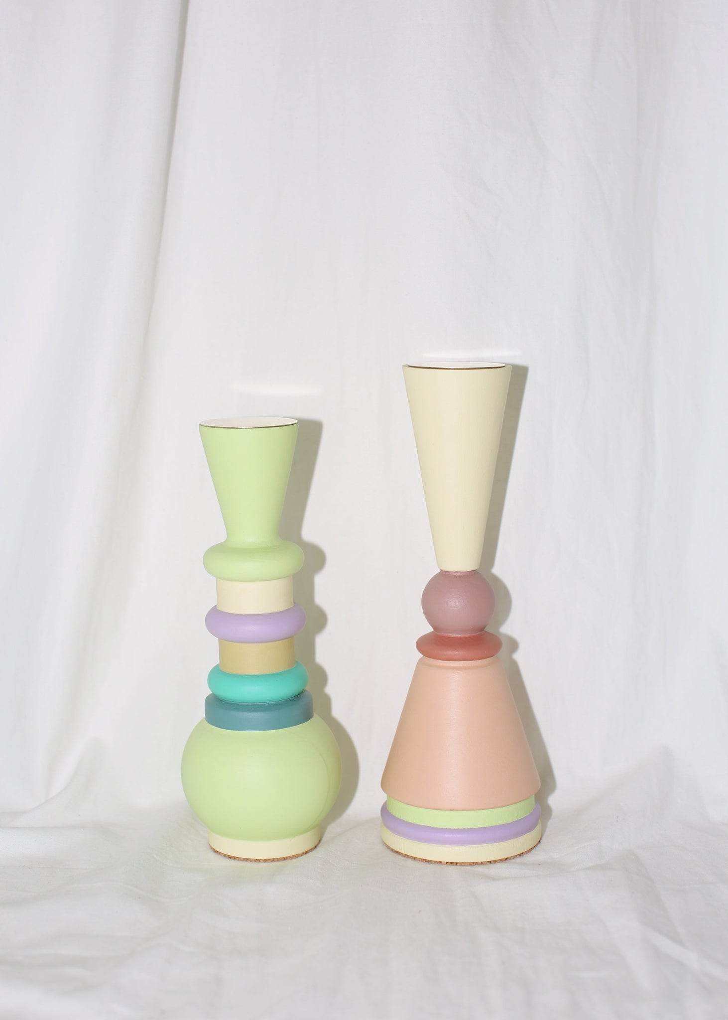 "EL QUINTO ""ODD GOODS"" MIDI PEACHY CANDLE HOLDER / SCULPTURE"