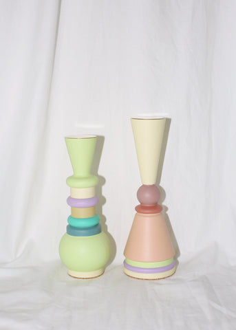"EL QUINTO ""ODD GOODS"" MIDI PEACHY CANDLE HOLDER / TOTEM"