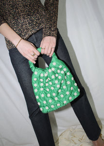 PEOPLES FLOWERS GREEN QINA BAG