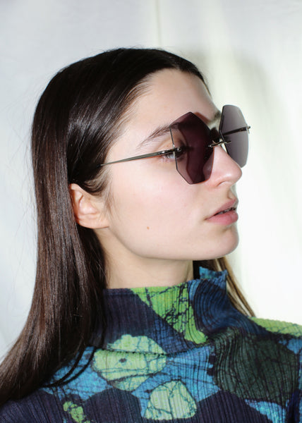 ATI CREA HANDMADE ONE OF A KIND BLACK GEODE SUNGLASSES