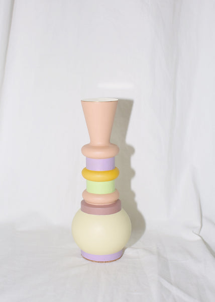 "EL QUINTO ""ODD GOODS"" MINI PEACHY CANDLE HOLDER / TOTEM"