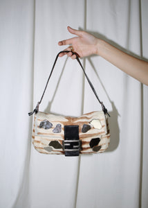 VINTAGE FENDI COWHIDE BAGUETTE BAG WITH MIRRORS