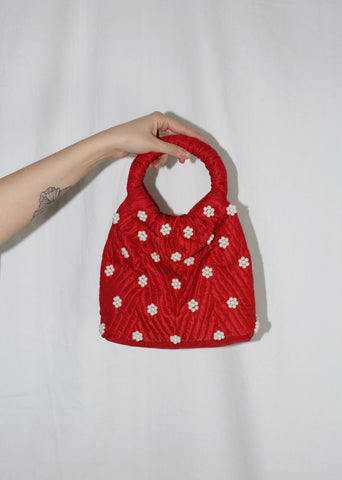 PEOPLES FLOWERS RED QINA BAG
