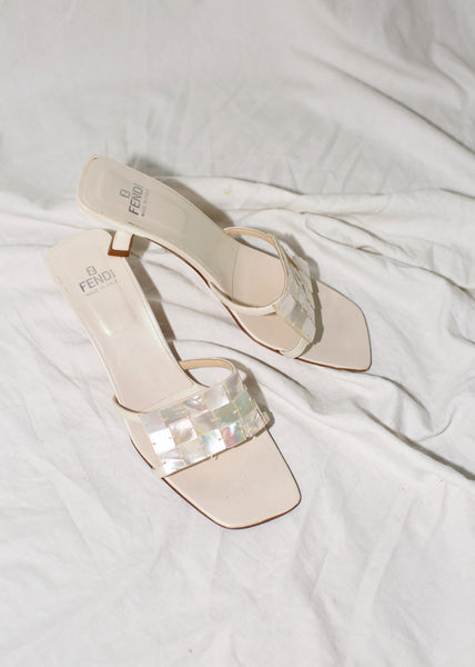 VINTAGE FENDI MOTHER OF PEARL SLIDES (8)