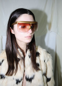VINTAGE COURREGES GOLD SUNGLASSES